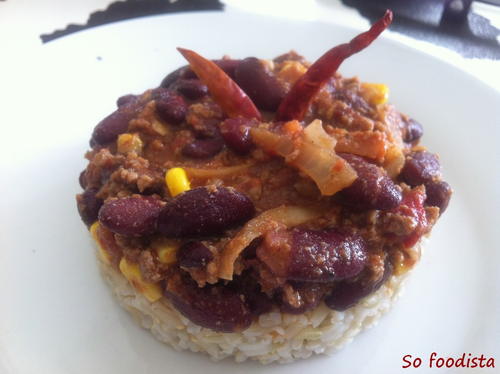 Haricots rouges so foodista - Chili con carne maison ...