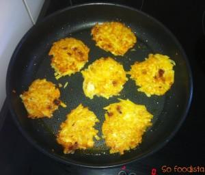 Galettes de pommes de terre, chorizo et brie (2)