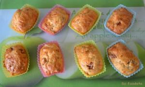 Mini cakes tomates séchées, chèvre et ciboulette (1)