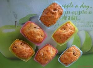 Mini cakes tomates séchées, chèvre et ciboulette (3)