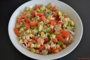 Salade de pâtes crabe avocat (2)