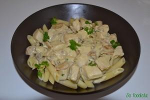 Sauté de dinde, crème, moutarde et champignons (2)