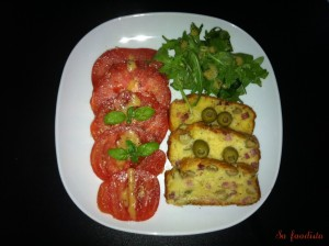 Cake olives et lardons (1)