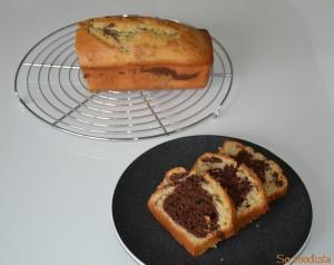 Cake marbré vanille cacao (4)