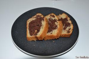Cake marbré vanille cacao (5)