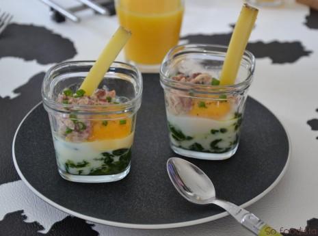 Oeufs cocotte lardons épinards (1)