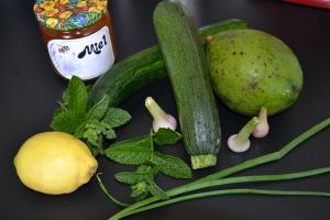 Tartare avocat, courgette et concombre (3)