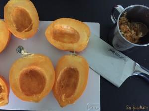 Mini courges farcies au fromage à raclette et coppa (1)