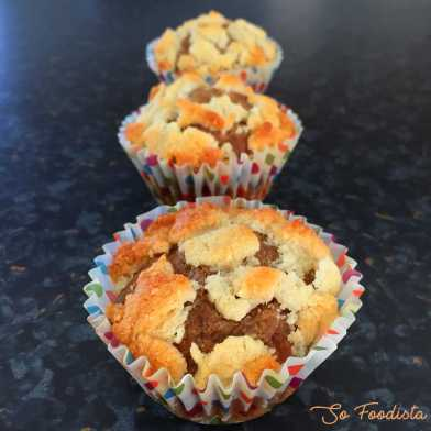 Muffins rhubarbe banane façon crumble (8)