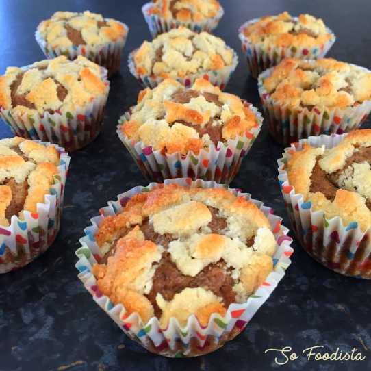 Muffins rhubarbe banane façon crumble (9)