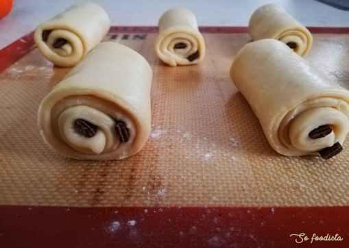 pain au chocolat brioché en pousse