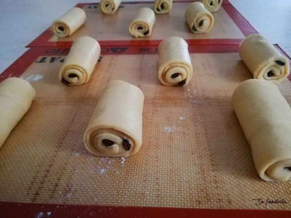 façonnage au pain au chocolat brioché
