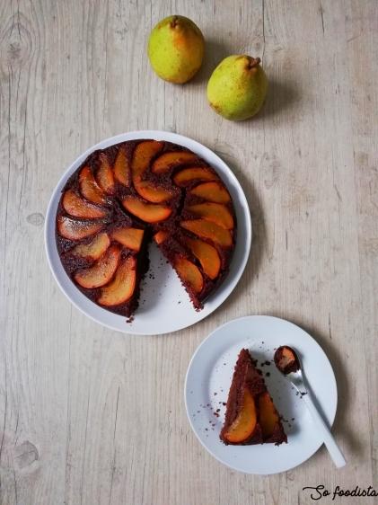 Gâteau renversé aux poires, chocolat et caramel (11).jpg