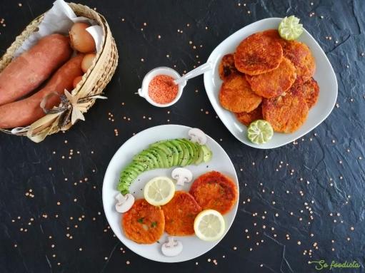 galettes de patates douces et lentilles corail (vegan) (2)