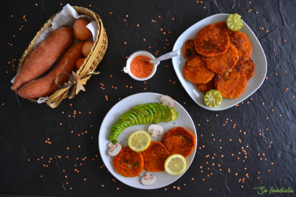 galettes de patates douces et lentilles corail (vegan) (3)