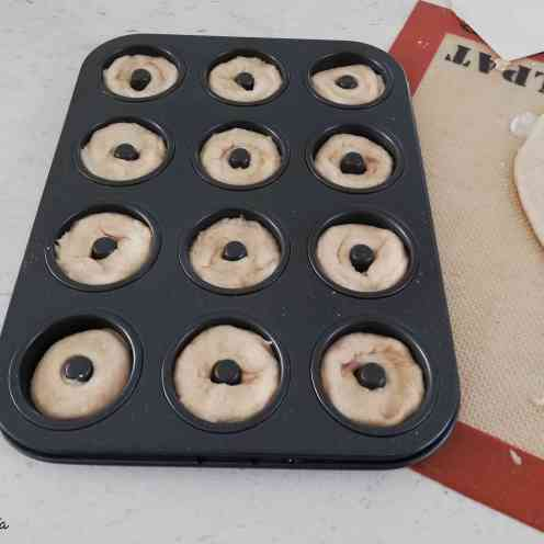mini donuts dans le moule