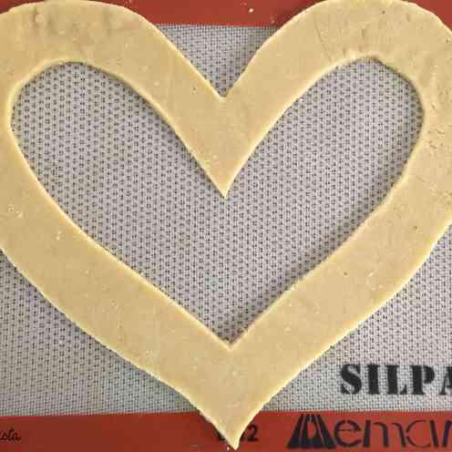 pâte en forme de coeur