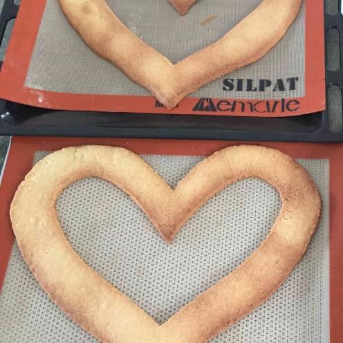 biscuits amande en forme de coeur