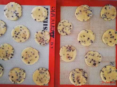 cookies prêts à être enfournées