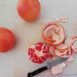 pomelos à chair rouge